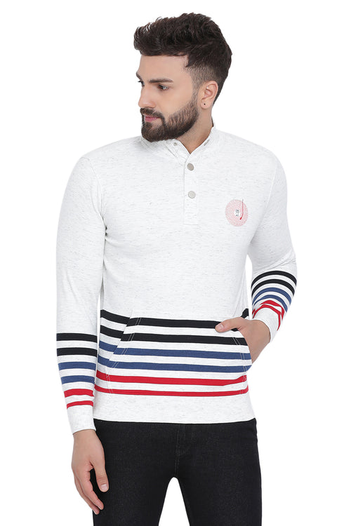 Axmann Striped Casual Pullover