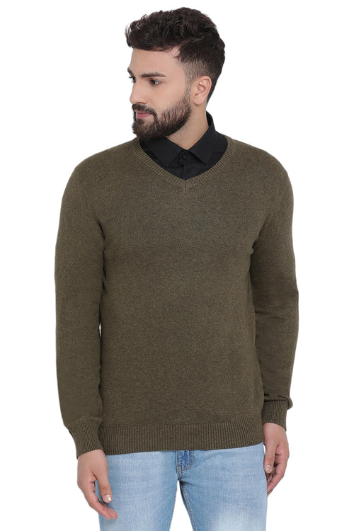 Axmann Solid V Neck Basic Sweater