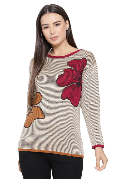 Wild Flower Casual Jumper