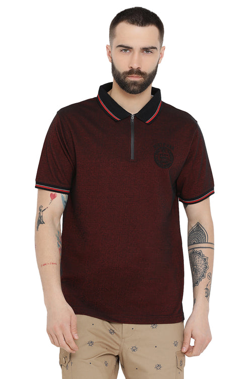 Axmann Self Textured Polo T-Shirt