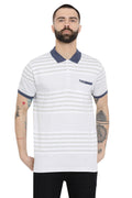 Axmann casual Striped Polo T-Shirt