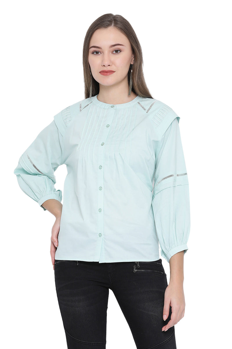 Solid Self Designed Casual Shirt