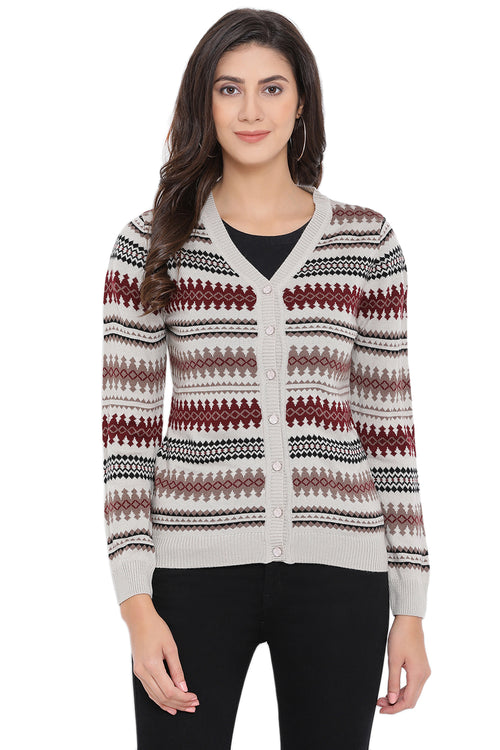 Self Stripes Casual Cardigan