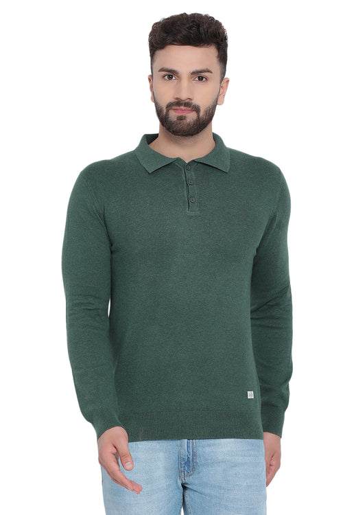 Axmann Solid Collared Pullover