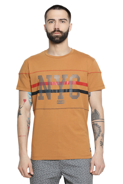Axmann NYC Round Neck Casual T-Shirt