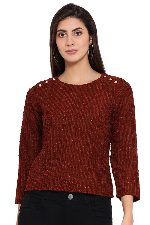 Red Charm Winter Top
