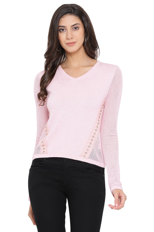 Solid Mesh Winter Top