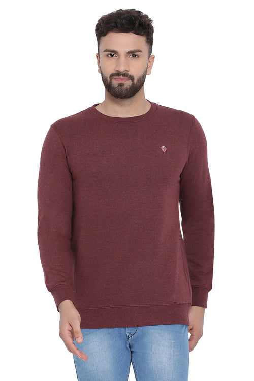 Axmann Solid Full Sleeve Sweatshirt
