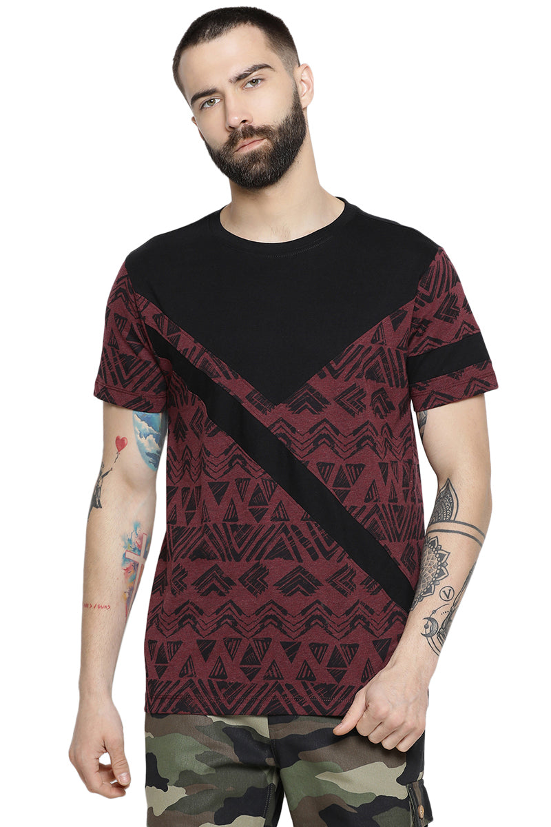 Axmann Abstract Printed Casual T-Shirt