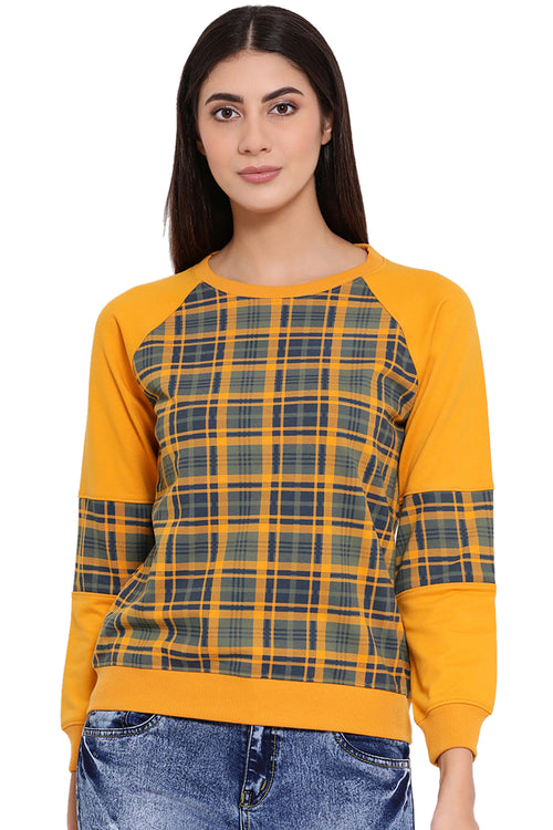 Checkered Sunshine Sweatshirt