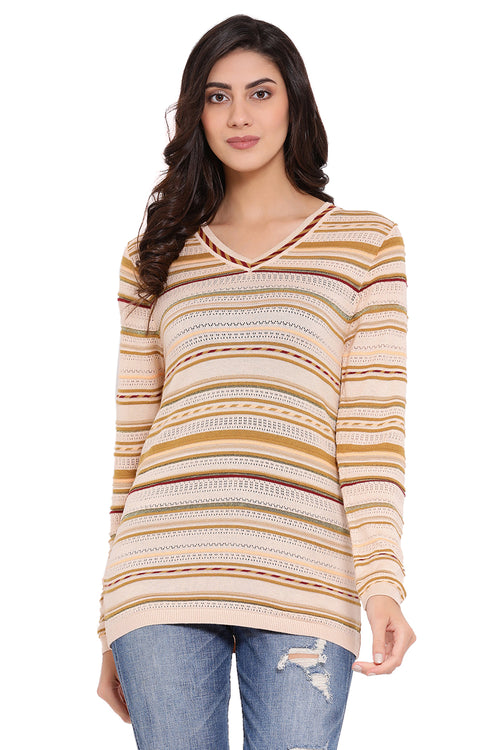 Subtle Striper Casual Jumper