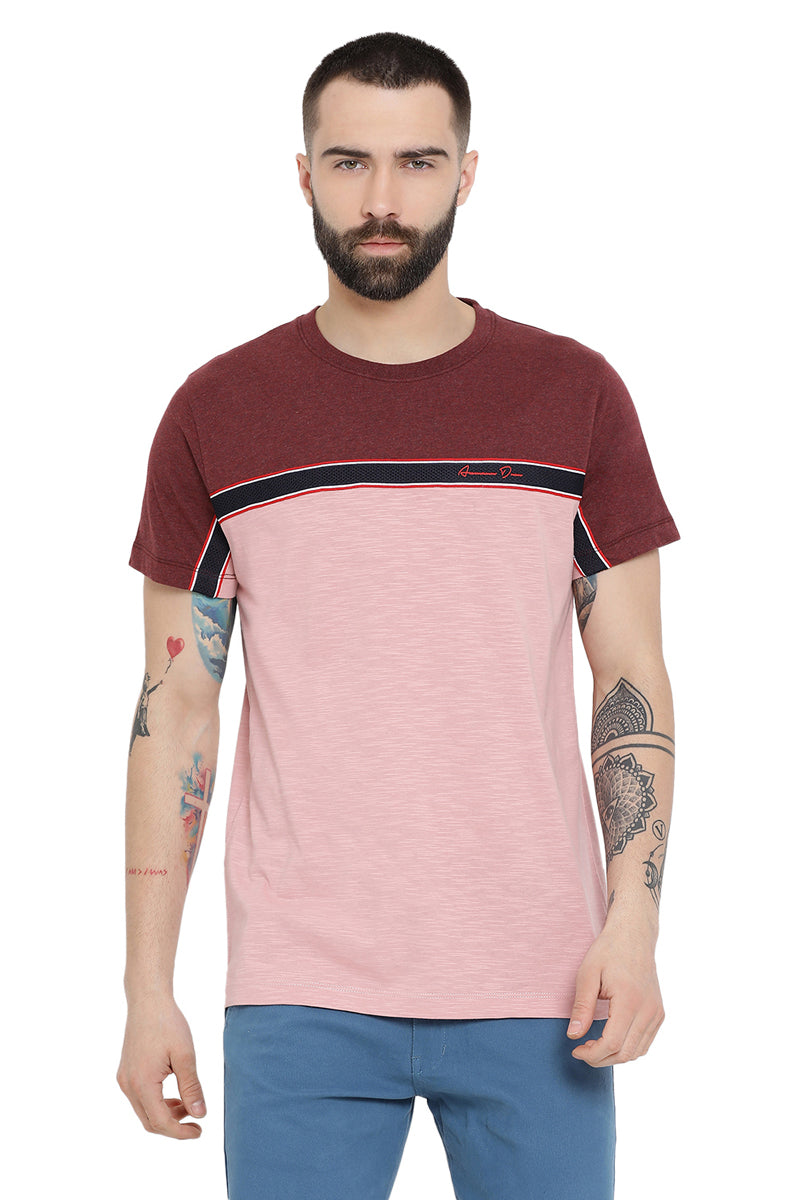 Axmann Color Blocked Casual T-Shirt