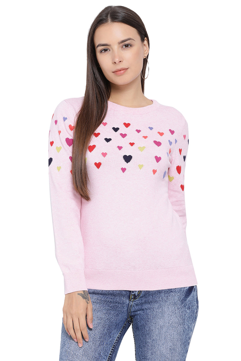 Flying Hearts Casual Winter Top