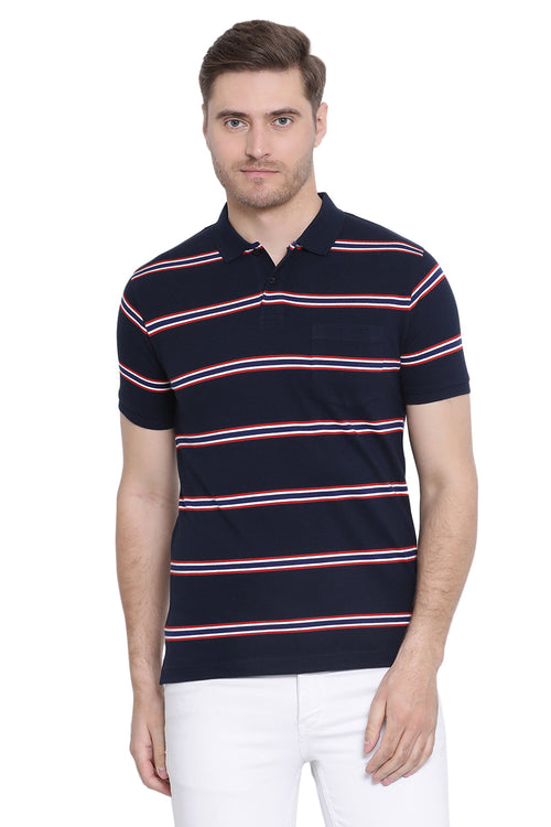 Axmann Striped Polo T-Shirt