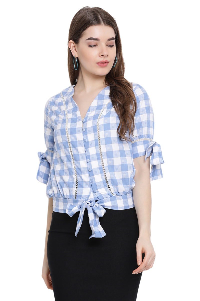 Puffy Knots Casual Shirt Top
