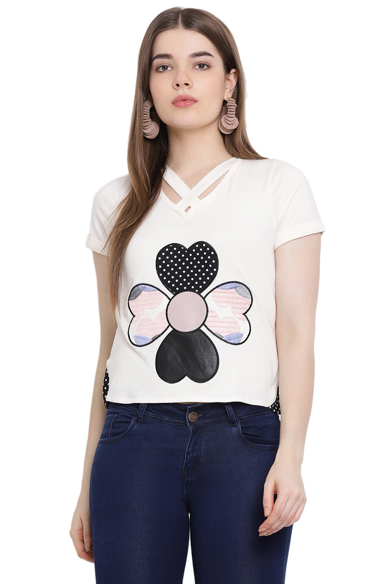 Dream Patch Cut Out Top