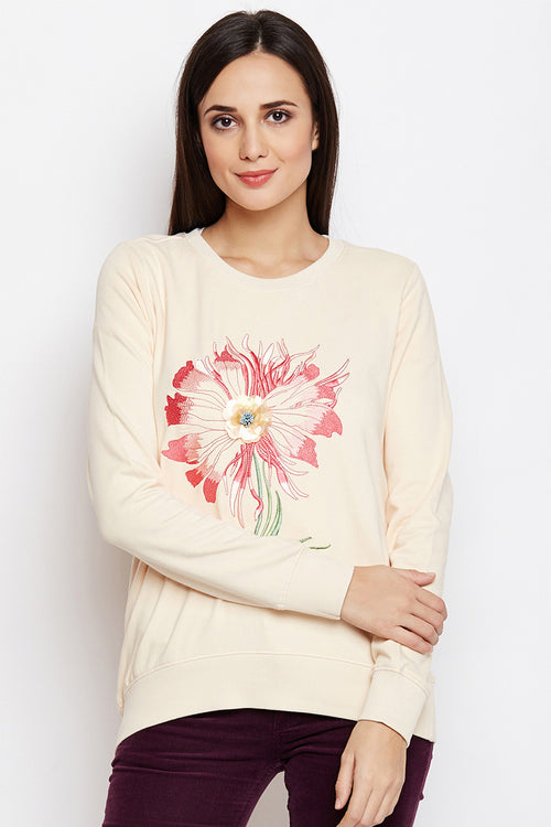 Wild Flower Casual Sweatshirt