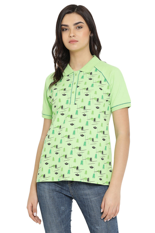 Mystic Printed Polo T-Shirt