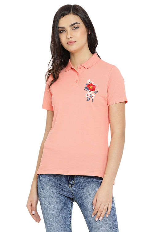 Blooming Flora Polo T-Shirt