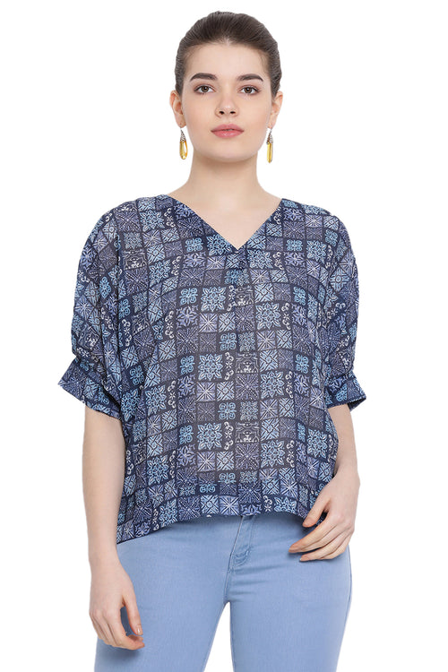 Magical Block Check Casual Top