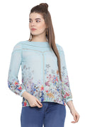 Floral Round Neck Full Sleeve Top
