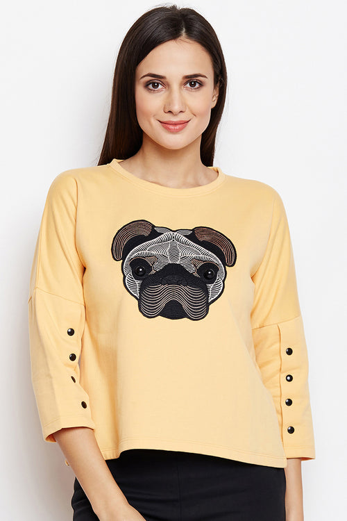 Dog Love Detail Sweatshirt - MODA ELEMENTI