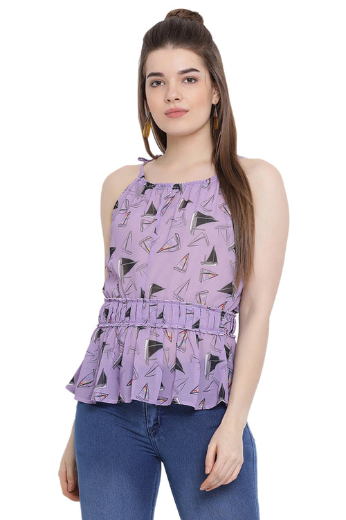Strap Self Designed Casual Top