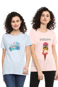 Casual T-Shirt Combo Pack (Pink | Blue) - MODA ELEMENTI