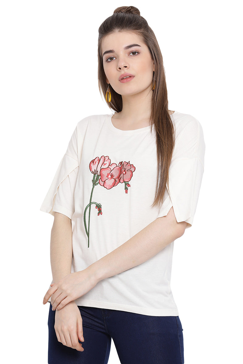 Wild Flower Layered Sleeve Top