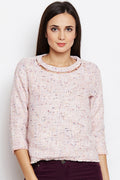 Pink Tribe Cut Out Top - MODA ELEMENTI