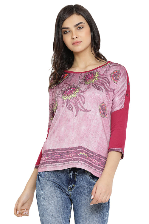Floral Aura Printed Casual Top
