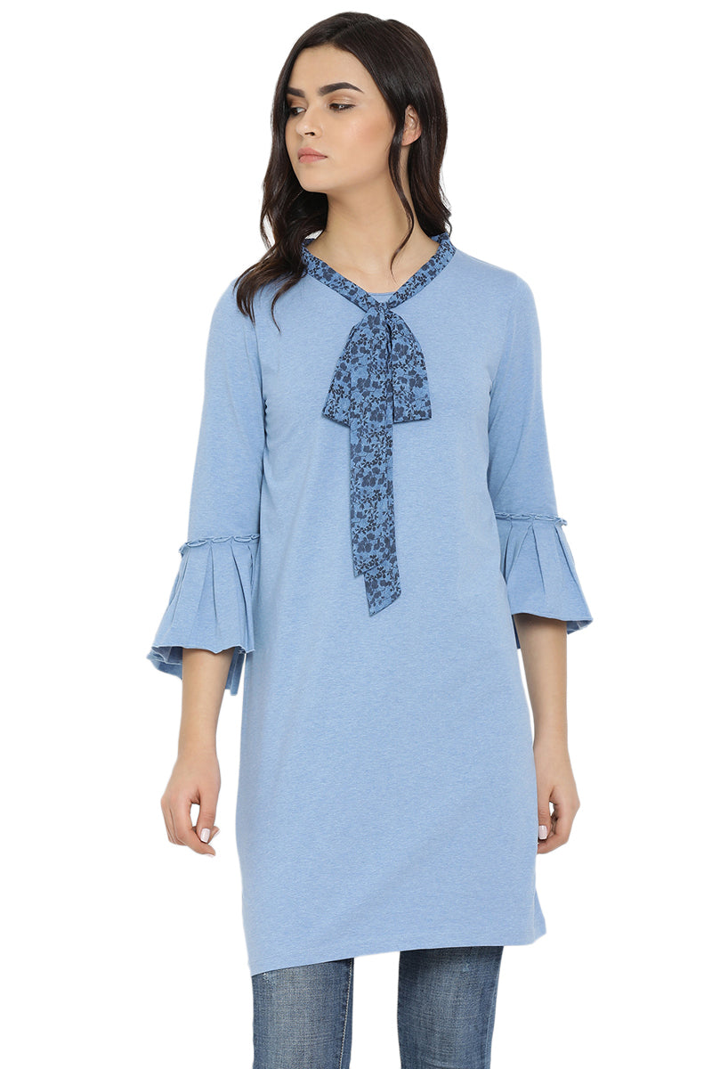 Front Tie Bell Sleeve Tunic