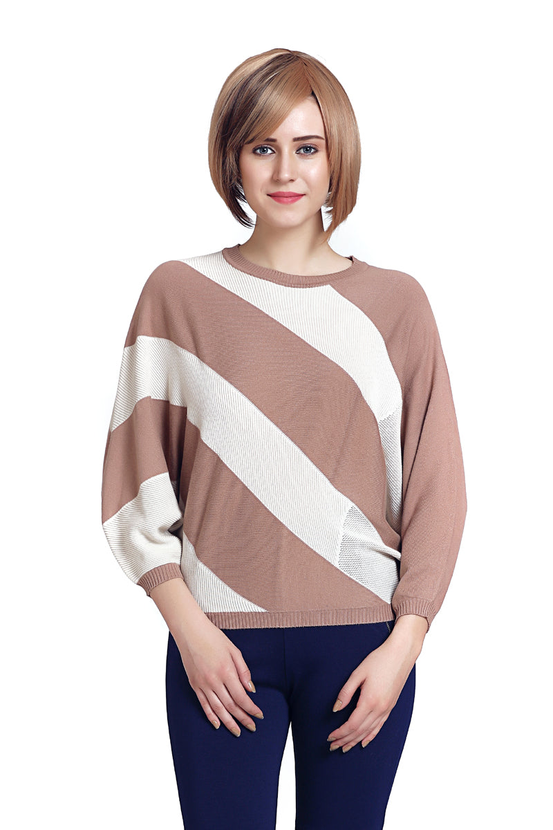 Striped Block Casual Jumper - MODA ELEMENTI