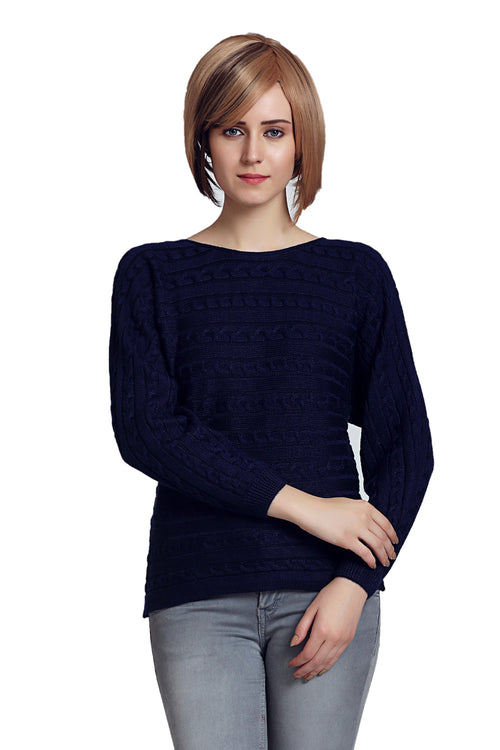 Solid Color Round Neck Jumper