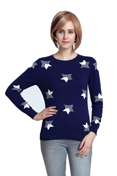 Galaxy Star Crew Neck Jumper