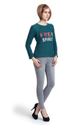 Moda Elementi  Autumn Green Colored Free Spirit Women Top Sale - MODA ELEMENTI