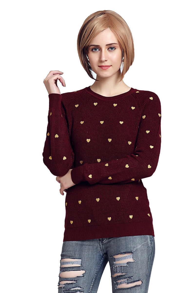 Heart For Wine Jumper - MODA ELEMENTI