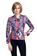 Multi Color Biker Jacket - MODA ELEMENTI