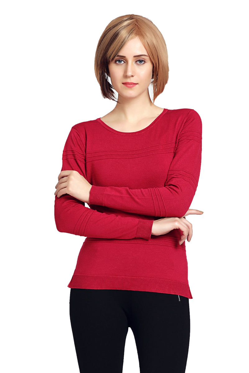 Round Neck Full Sleeve Winter Top - MODA ELEMENTI