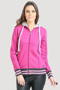 Bottom Striped Full Sleeve Hooded Sweatshirt - MODA ELEMENTI