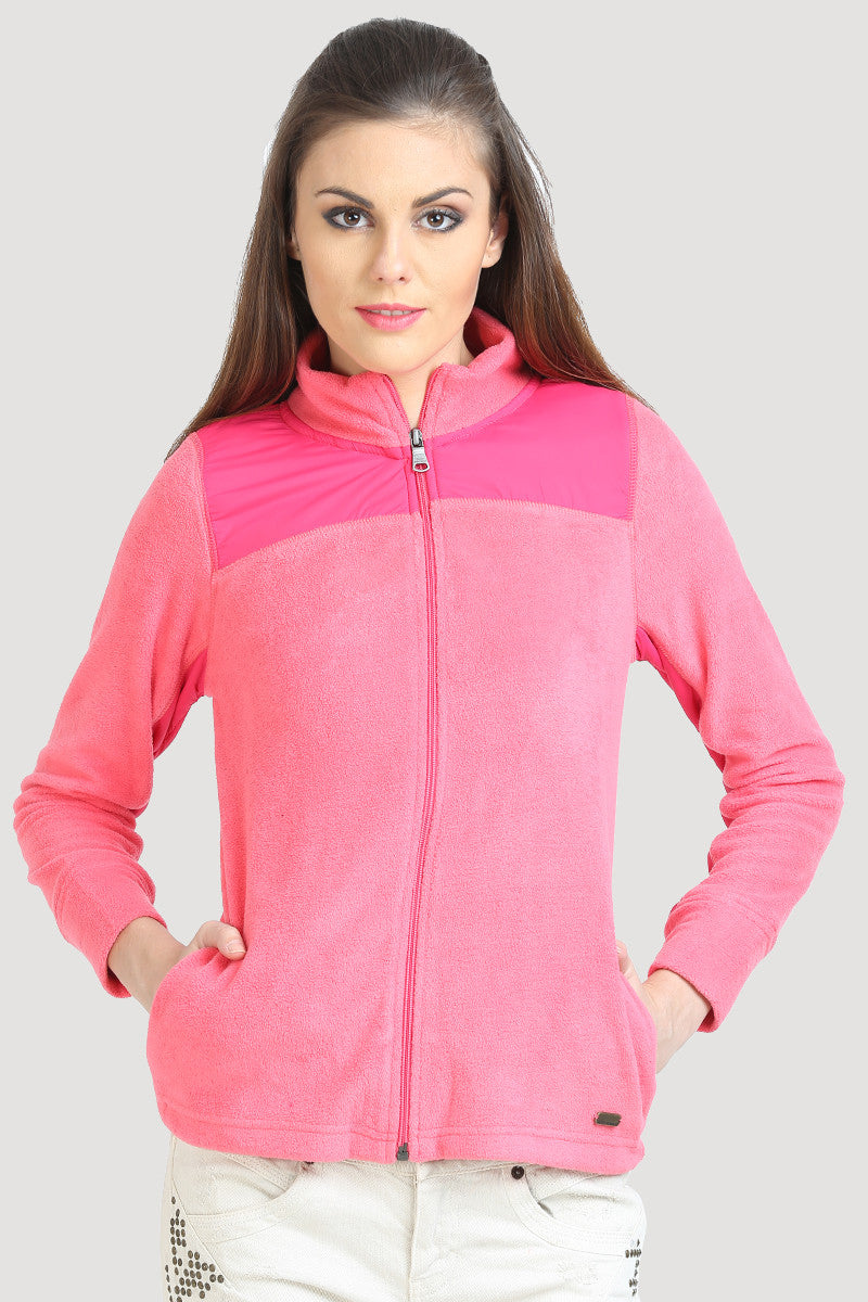 Full Sleeve Zipper Collared Sweatshirt - MODA ELEMENTI