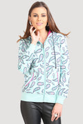 Full Sleeve Printed Zipper Hooded Sweatshirt - MODA ELEMENTI