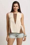 Geometric Swatch Casual Top - MODA ELEMENTI