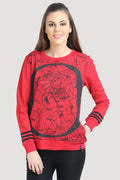 Full Sleeve Printed Round Neck Sweatshirt - MODA ELEMENTI