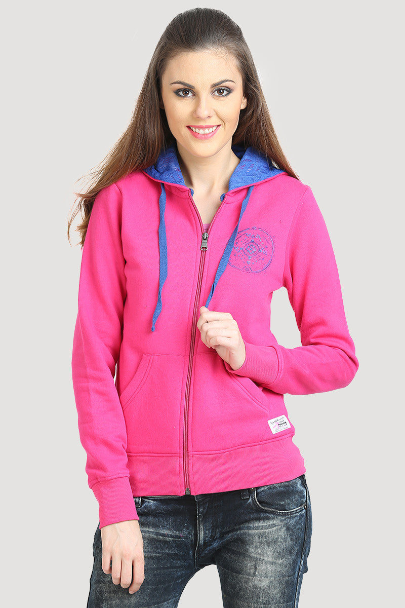 Full Sleeve Solid Hooded Sweatshirt - MODA ELEMENTI