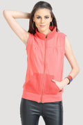Reversible Front Open Sleeveless Sweatshirt - MODA ELEMENTI
