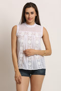 Embroidered Floral Casual Top - MODA ELEMENTI