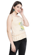 Printed Self Designed Casual Top