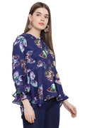 Butterfly Printed Casual Top
