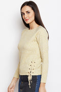 Self Designed Detailed Winter Top - MODA ELEMENTI